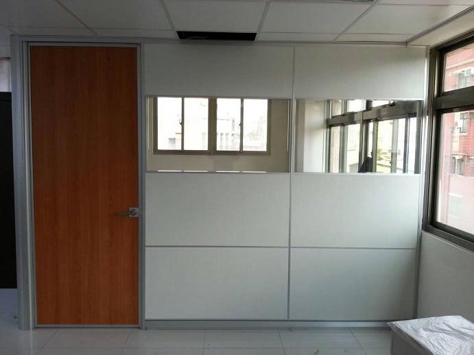 高隔間鋁本色鋁封邊木門