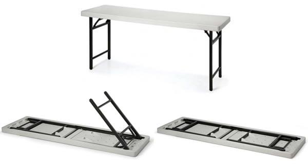 新型塑鋼面折合桌