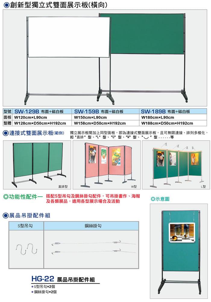 創新型獨立式雙面展示板