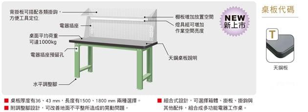 天鋼板工作桌-上架組