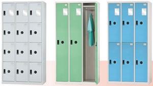三排多用途衣櫃.置物鐵櫃