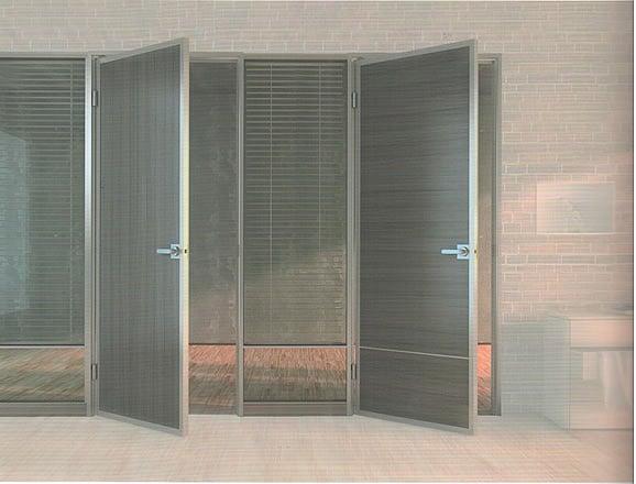 高隔間鋁框環保門
