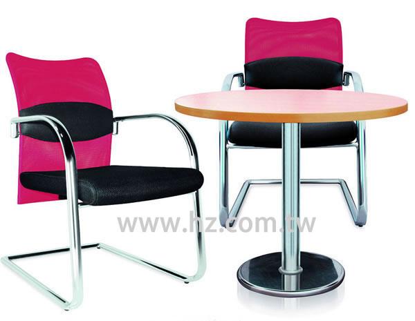 JS-A754V-A  黑紅網背洽談椅