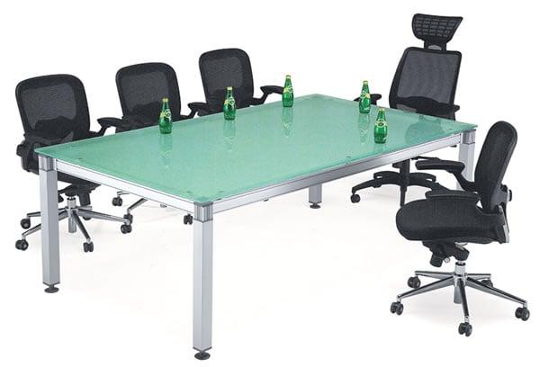 噴沙玻璃會議桌