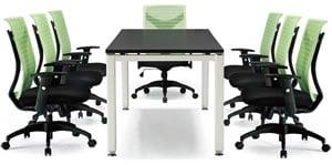 DV02STG   大衛黑色塑膠網背辦公椅