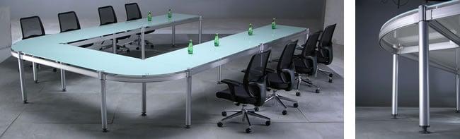 玻璃環式會議桌